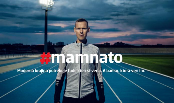 Matej Tóth v kampani #mamnato, zdroj: Slovenská spořitelna