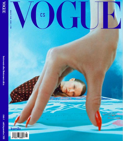 Limitovaná obálka prvního vydání československé Vogue, na níž je fotografie s názvem Valerie a týden divů, zdroj: V24 Media.