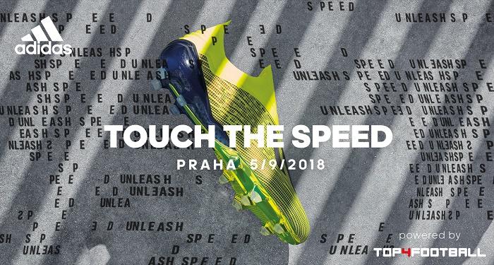 K uvedení nových kopaček X18+ připravuje adidas akci s názvem Touch The Speed, zdroj: Concept One.