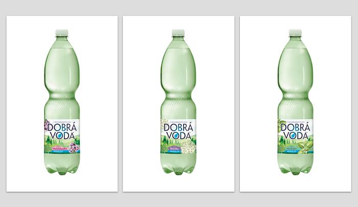 Tři nové příchutě značky Dobrá voda s novými etiketami, zdroj: Poděbradka