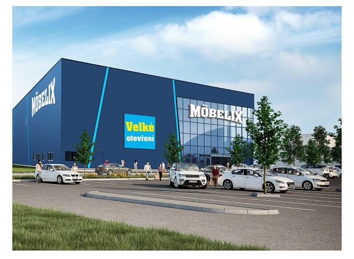 Vizualizace nové prodejny Möbelix na Kolbenově ulici v Praze, zdroj: Möbelix