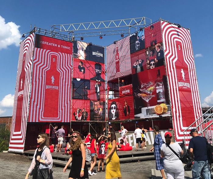 Prezentace Beefeater London na letošních Colours of Ostrava, foto: MediaGuru.cz