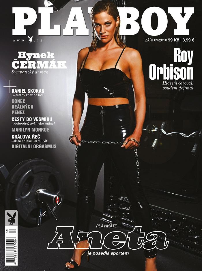 Titulní strana zářijového vydání Playboye, foto: