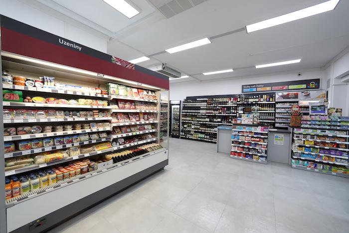 Interiér nové prodejny Žabka, zdroj: Tesco
