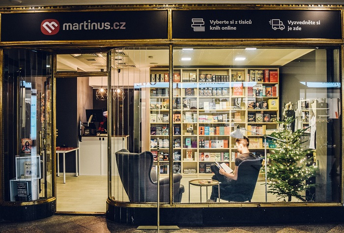 Knihkupectví obývakového typu Martinus.cz, zdroj: FB Martinus.cz