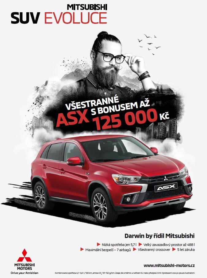 Klíčový vizuál ke kampani SUV evoluce od Mitsubishi, zdroj: Scholz & Friends