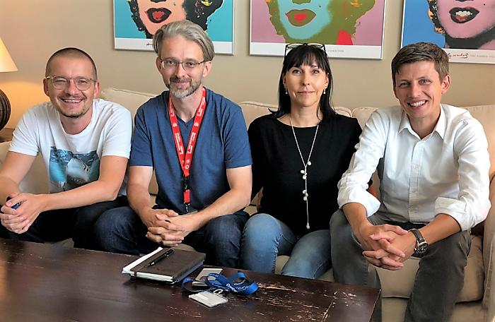 Zleva: Petr Bažant, Jan Filipi, Luisa Alvesová a Luděk Hatoň, foto: MediaGuru.cz