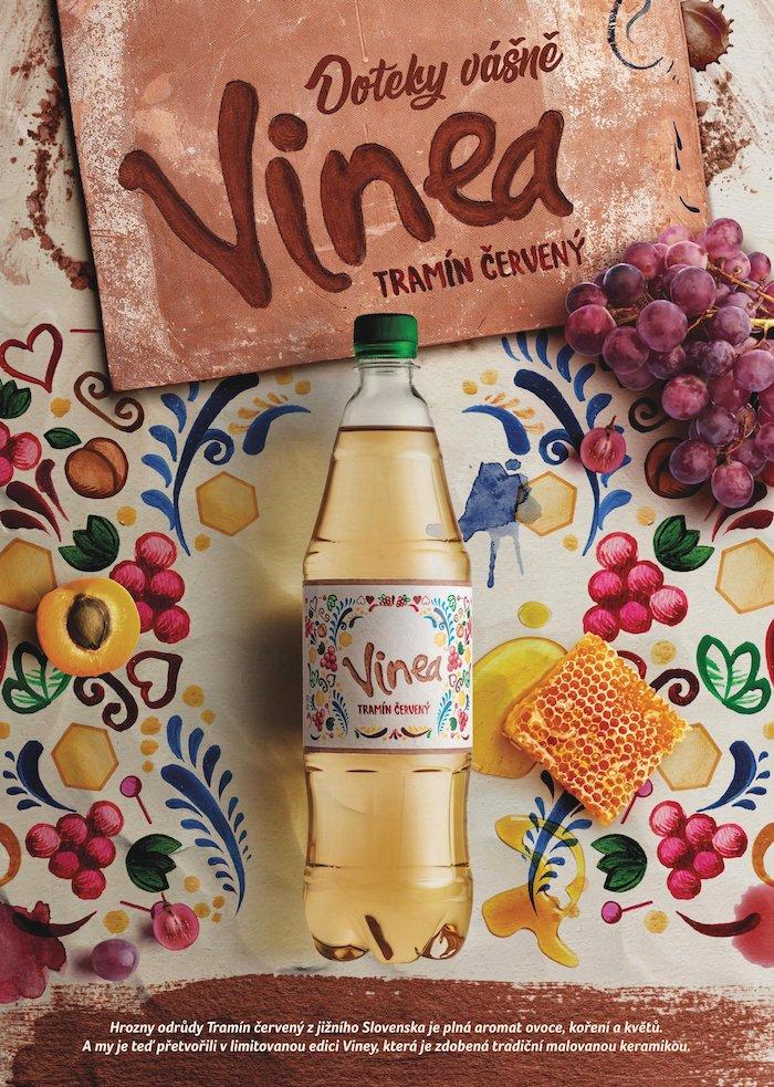 Klíčový vizuál k podzimní kampani značky Vinea, zdroj: Kofola ČS