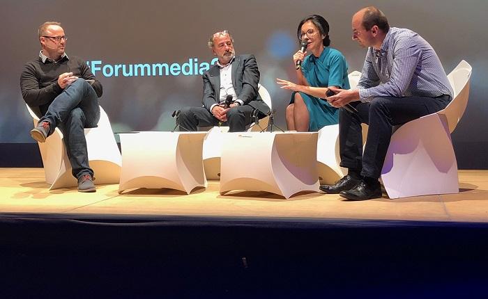 Zleva Ondřej Fér, Michel Fleischmann, Libuše Šmuclerová a Pavel Zima, foto: MediaGuru.cz