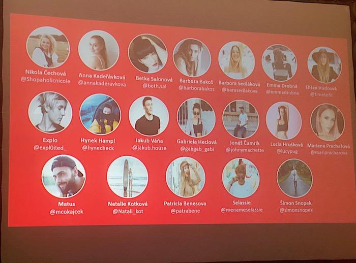Přehled influencerů, které zapojila Coca-Cola do své letní kampaně, foto: MediaGuru.cz.