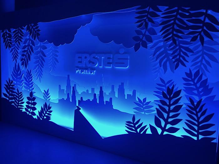 Na Erste Premier Lounge se podílela také ilustrátorka Eliška Podzimková, foto: MediaGuru.cz.