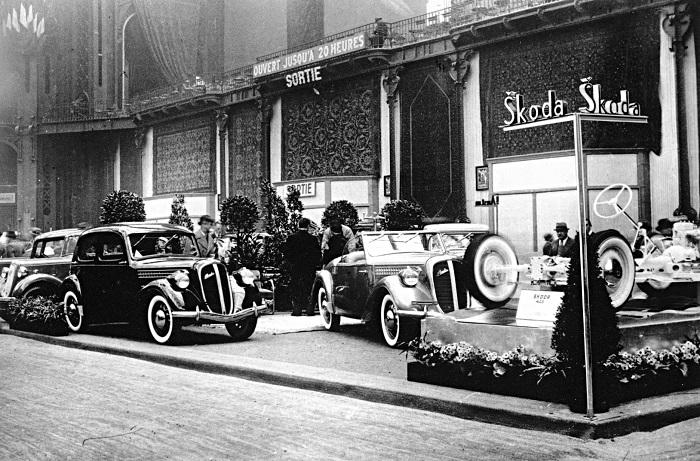 K úspěchům značky Škoda napomáhaly prezentace na předních autosalonech – od Prahy přes Paříž, Berlín, Brusel či Johannesburg, zdroj: Škoda Auto.