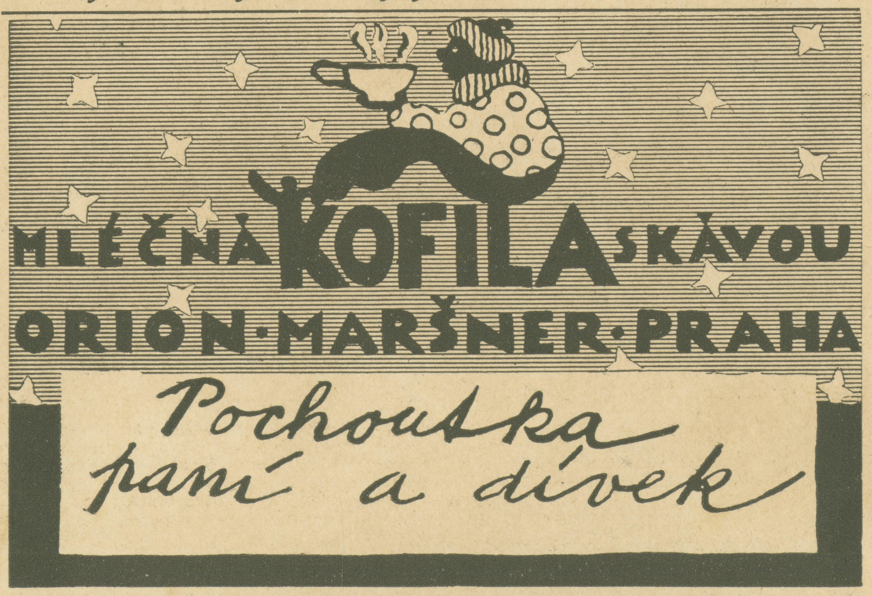 Čokoládová tyčinka s kávovou chutí vznikla v roce 1923, mouřenína na jejím obalu vymyslel výtvarník Zdenek Rykr, který se nechal inspirovat svými cestami po Orientu, zdroj: Nestlé.