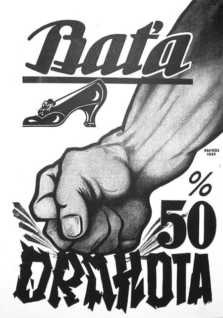 Baťa v době první republiky disponoval propracovanými reklamními strategiemi, zdroj: Baťa.