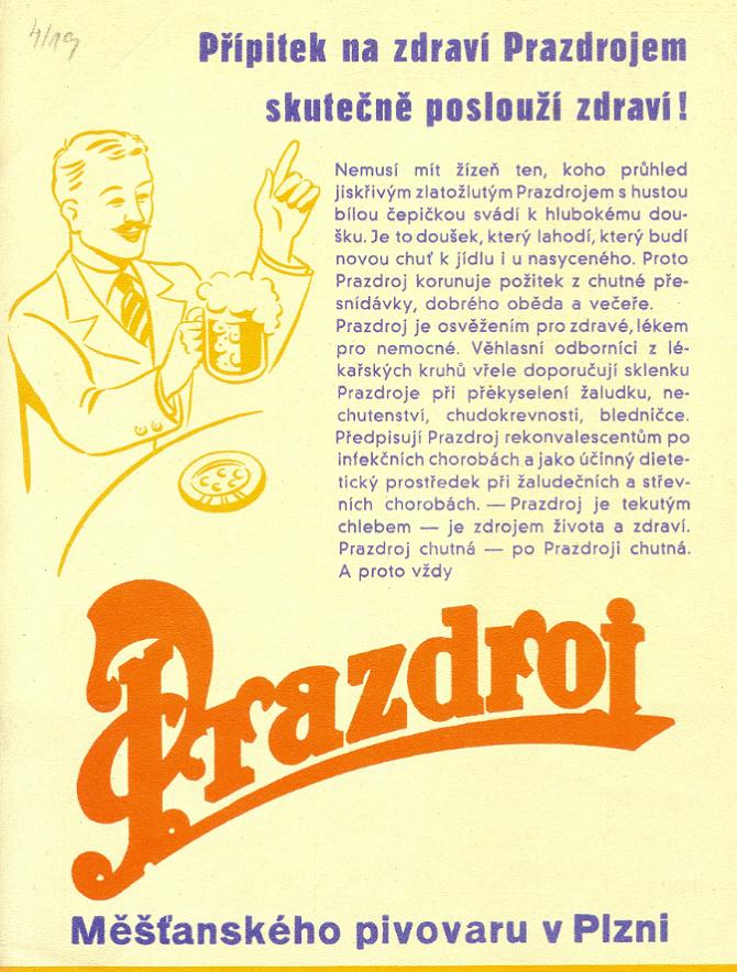 Plzeňský Prazdroj zdůrazňoval svůj přínos pro zdraví, zdroj: Plzeňský Prazdroj.