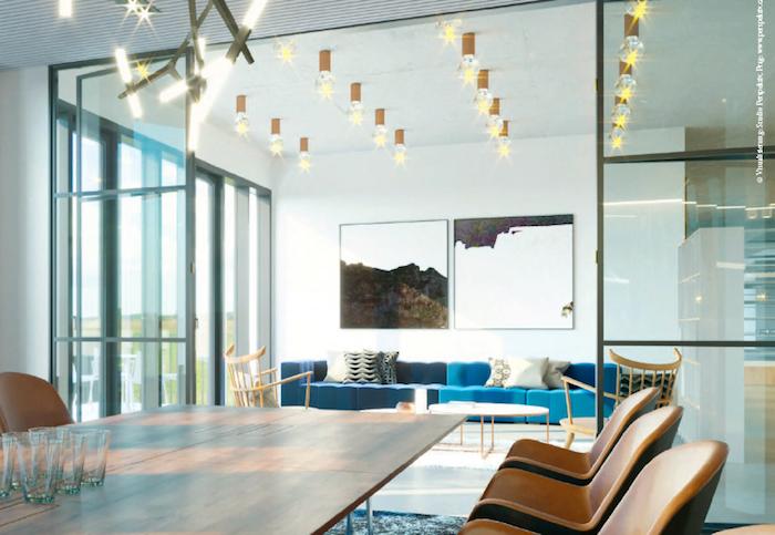 """Konferenční místnost lze propojit s kancelářským """"obývákem"""", zdroj: Wiesner-Hager."""