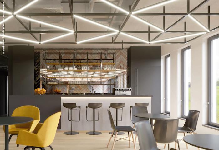 Recepci lze dnes pojmout jako prostor s kavárnou, zdroj: Wiesner-Hager.