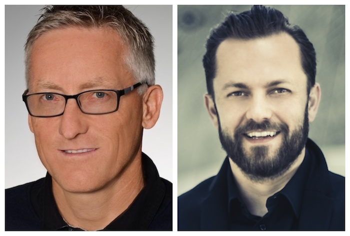 Zástupci společnosti Wiesner-Hager (zleva): marketingový ředitel Franz Gurtner a ředitel české pobočky Zdenek Brisuda
