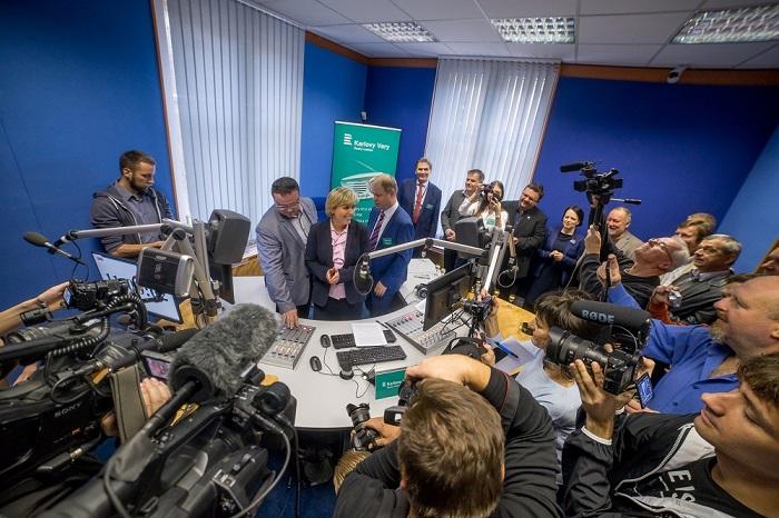 Slavnostní zahájení vysílání Českého rozhlasu Karlovy Vary, foto: ČRo