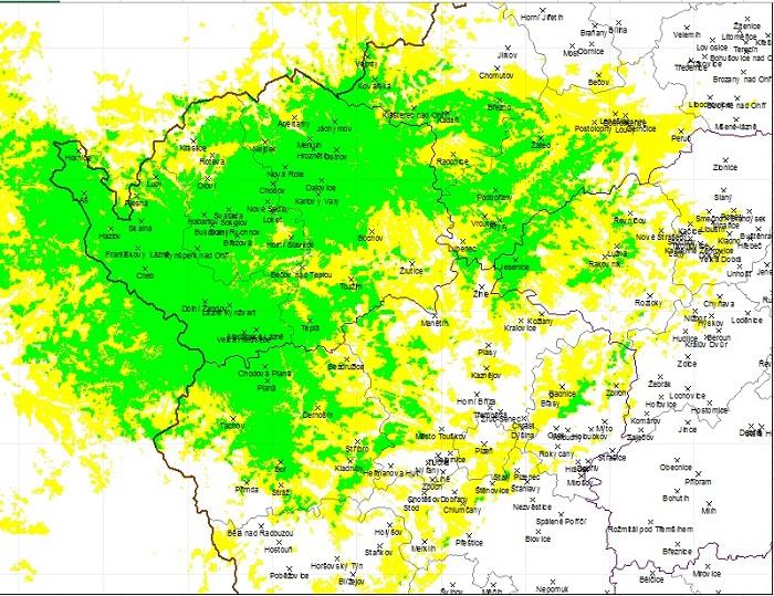 Mapa pokrytí vysílání stanice Český rozhlas Karlovy Vary (mono), foto: ČRo