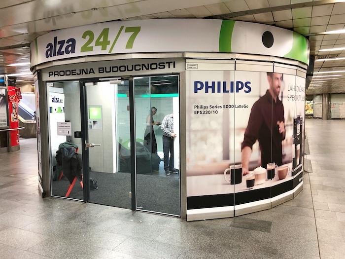 """V pořadí třetí """"prodejnu budoucnosti"""" otevře Alza.cz v metru na Můstku, foto: Alza.cz."""
