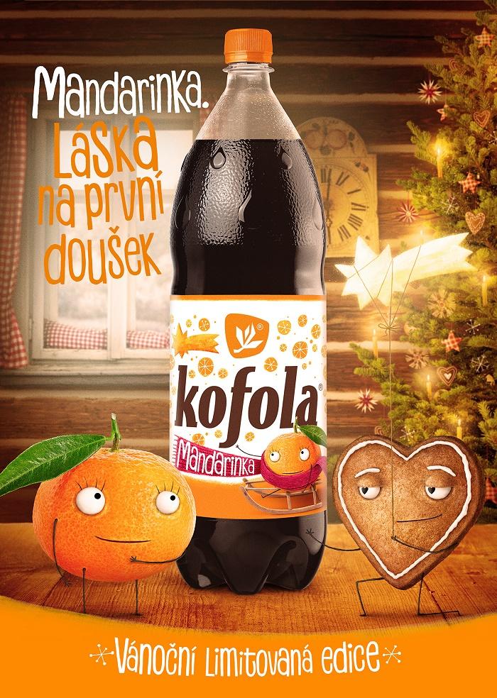 Klíčový vizuál k vánoční kampani značky Kofola, zdroj: Kofola ČS