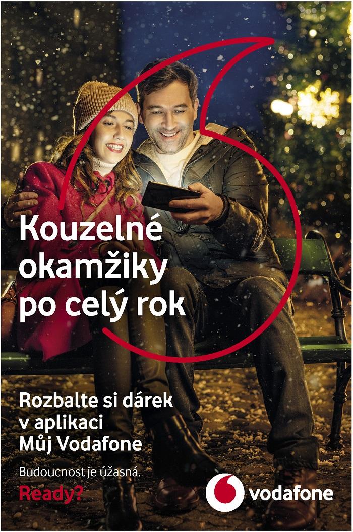 Klíčový vizuál k vánoční kampani Vodafone, zdroj: Vodafone