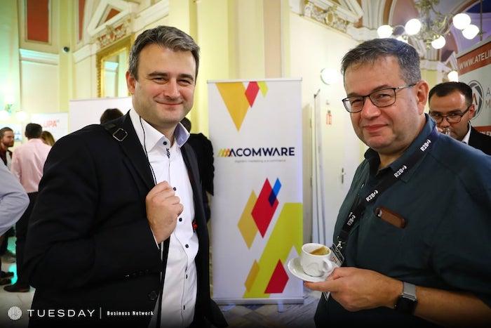 Současný ředitel Deníku N Ján Simkanič a editor Petr Koubský, zdroj: Internet Info