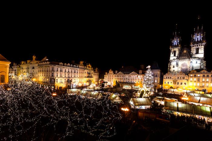 Vánoční trhy na Staroměstském náměstí v Praze, zdroj: Taiko