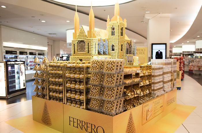Monument katedrály svatého Víta z pralinek Ferrero Rocher od agentury Innate, zdroj: POPAI
