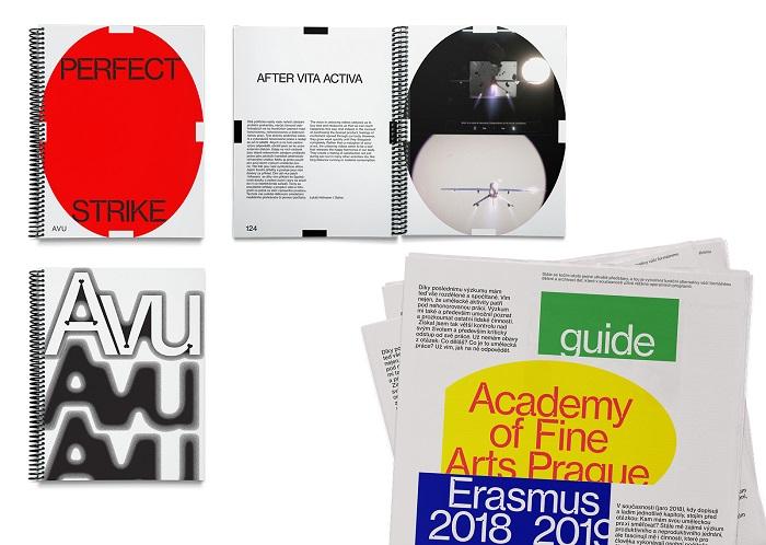 Obálky katalogu k diplomantské výstavě a průvodce studijními programy, zdroj: 20YY Designers