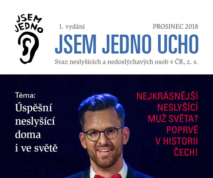 Svaz neslyšících a nedoslýchavých osob v ČR začíná vydávat časopis Jsem jedno ucho, zdroj: SNN