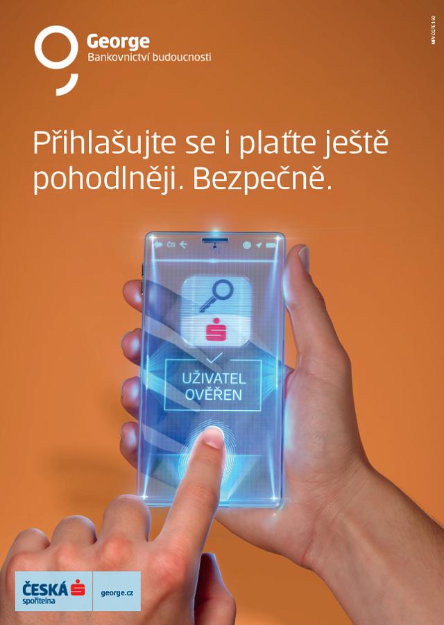 Klíčový vizuál ke kampani České spořitelny na George a bezpečnému připojení, zdroj: ČS