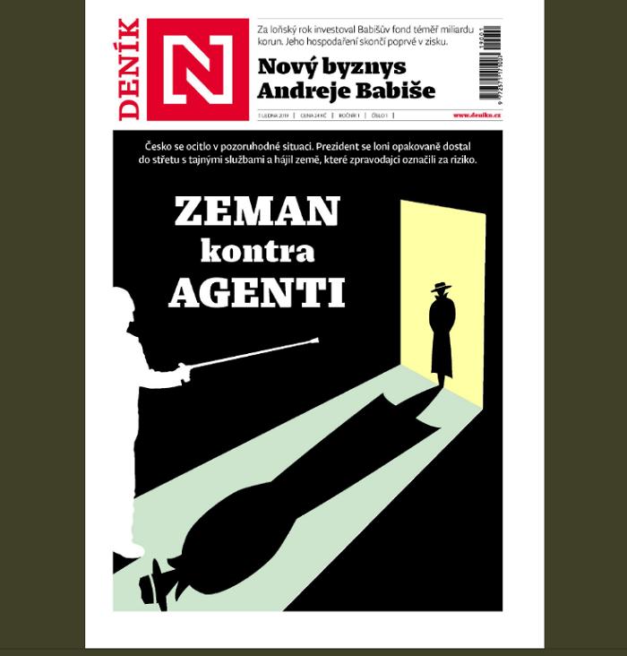 První titulní strana tištěného Deníku N, 7.1. 2019