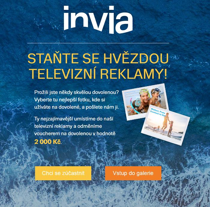 Ukázka kampaňové microsite, zdroj: Invia