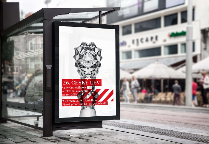 Vizuální podoba podpory 26. ročníku cen Český lev