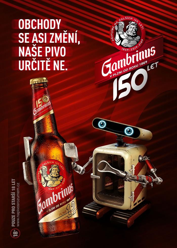Klíčový vizuál futuristické kampani značky Gambrinus, zdroj: Plzeňský Prazdroj
