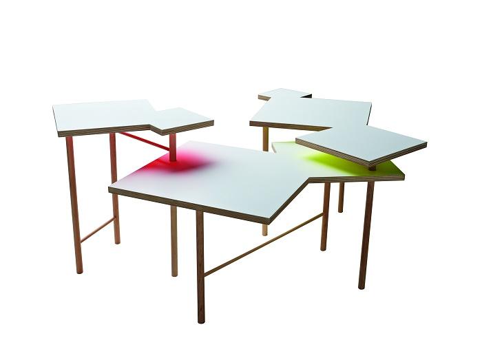 Dílo 002: Utsuri Table od japonského designéra Yo Shimady, zdroj: Hornbach
