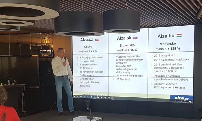 Zdroj: Alza, Jiří Ponrt, finanční ředitel Alza.cz