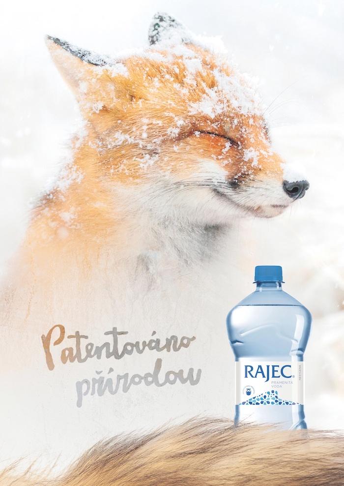 Klíčový vizuál zasněžené kampaně značky Rajec, zdroj: Kofola ČS
