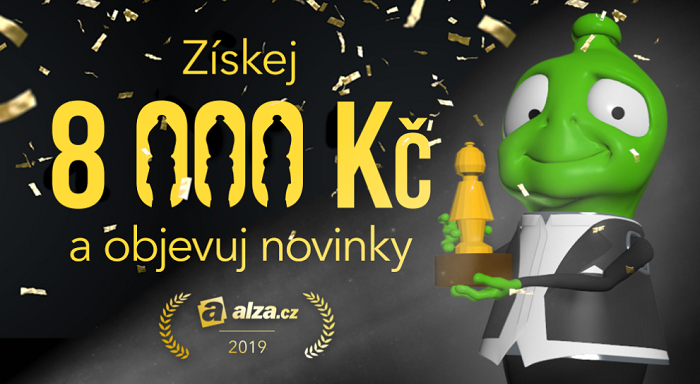 Klíčový vizuál k nové kampani Alza.cz s tzv. Zlatým Alzákem, zdroj: Alza.cz