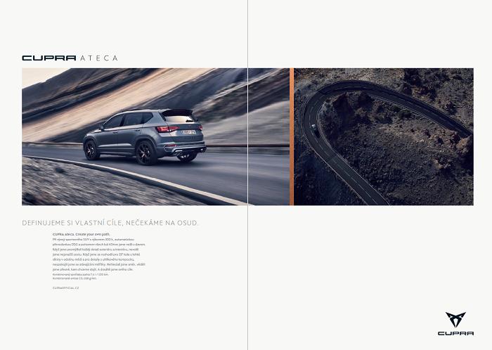 Klíčový vizuál k printové kampani značky Cupra na českém trhu, zdroj: Porsche ČR