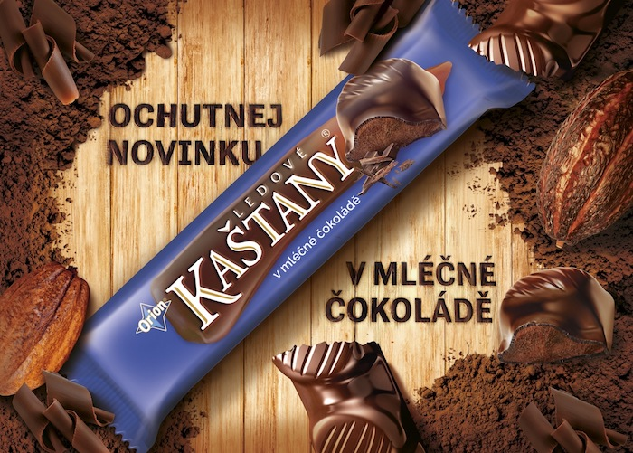 Ledové kaštany uvádí novinku v mléčné čokoládě, zdroj: Nestlé.
