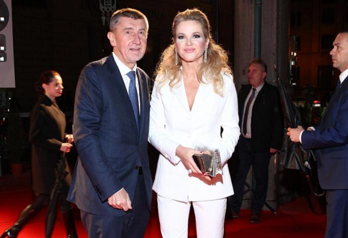 Premiér Andrej Babiš s manželkou, foto: TV Nova
