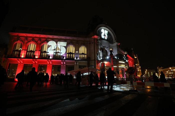 Slavnostní nasvícení Obecního domu, foto: TV Nova