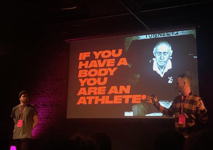 Na Contagious Starter vystoupil i Jevgenij Primačenko z Wieden + Kennedy a David Pivk z Nike, foto: MediaGuru.cz.