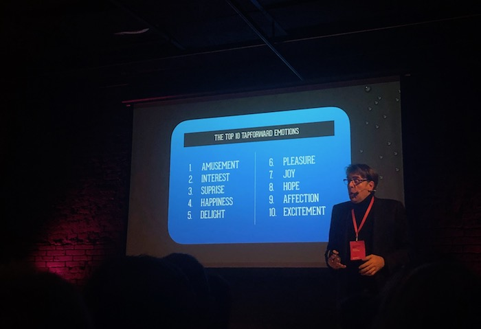 Wim Vermeulen ukazuje, s jakými emocemi mohou značky pracovat, foto: MediaGuru.cz.