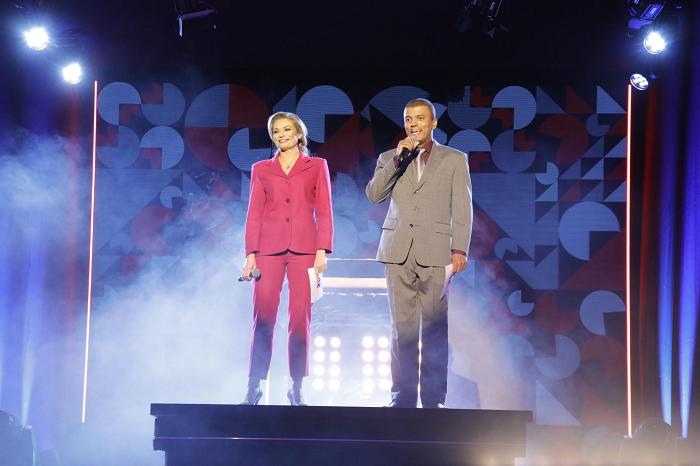 Lucie Borhyová a Ray Koranteng, foto: TV Nova
