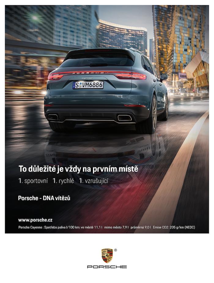 Klíčový vizuál k nové kampani značky Porsche, zdroj: Fairy Tailors