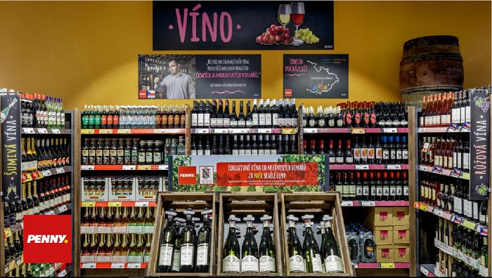 Penny Market přestavěl sekci vín, zdroj Penny Market.
